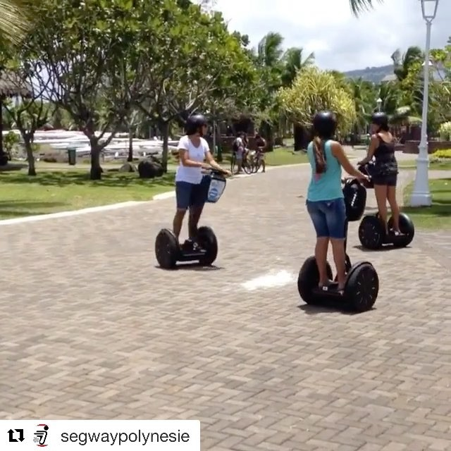 Segway beach adventures in Tahiti . . @segwaypolynesie ・・・ Un petit speed en gyropode Segway sur le front de mer de Papeete