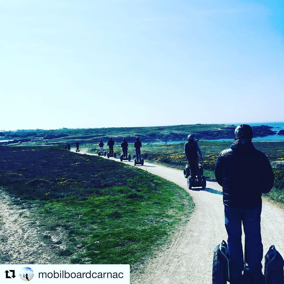 Segway Tour of the day @mobilboardcarnac ・・・ Quelle vue  sur la Côte sauvage de Quiberon ! Sea Sun Seg's