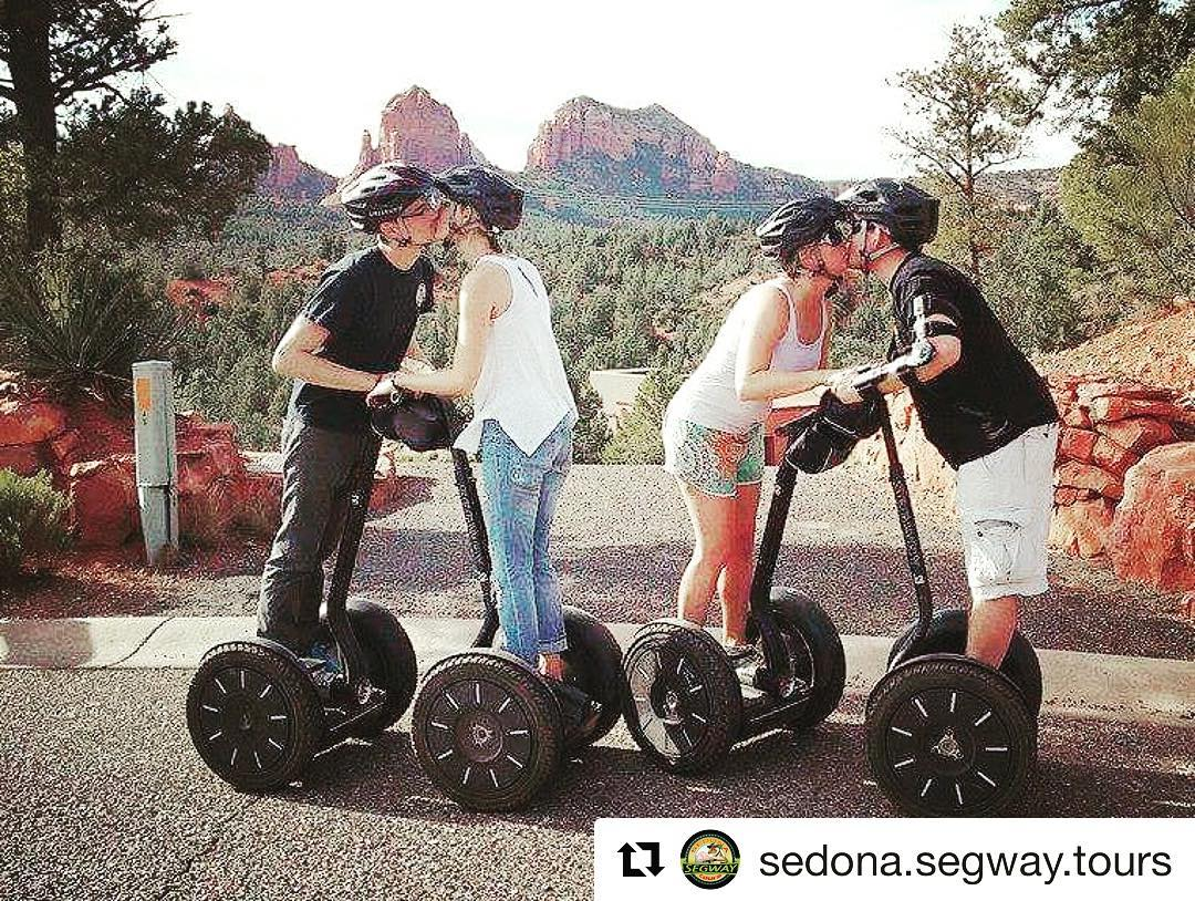 Love this kiss pic captured by Sedona Segway tours. Segway Tour pic of the day!  @sedona.segway.tours ・・・