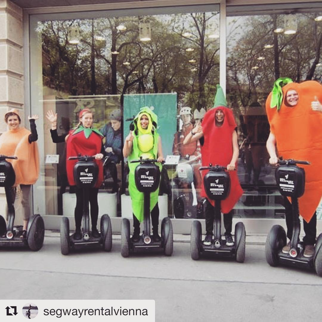 Best vegetables on a segway of the day ! Vegetarian tour?? @segwayrentalvienna ・・・ Vegetables on Segway Tour