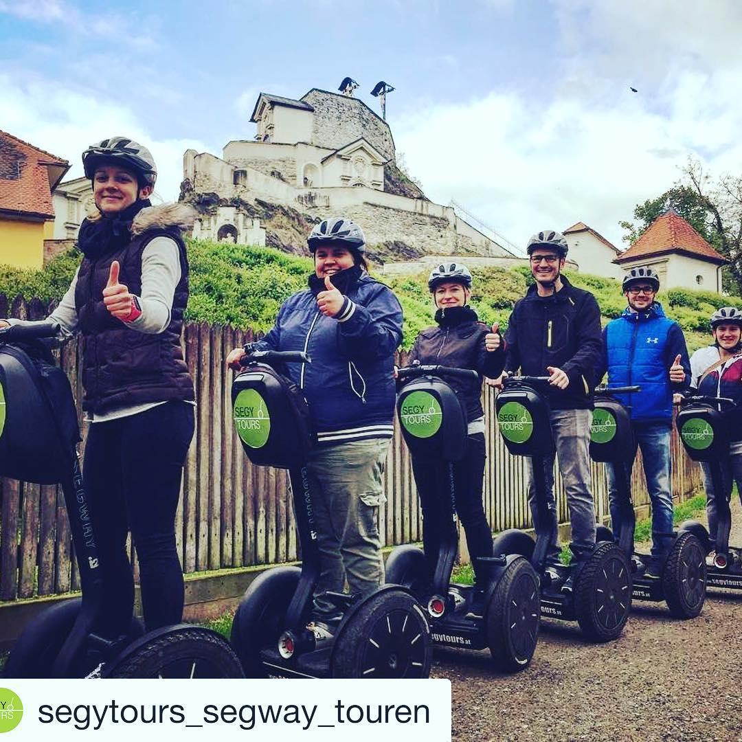 Segway tour of the day @segytours_segway_touren ・・・ Yeah! Wir sind wieder auf Achse! Im Hintergrund der Kalvarienberg! 🌤