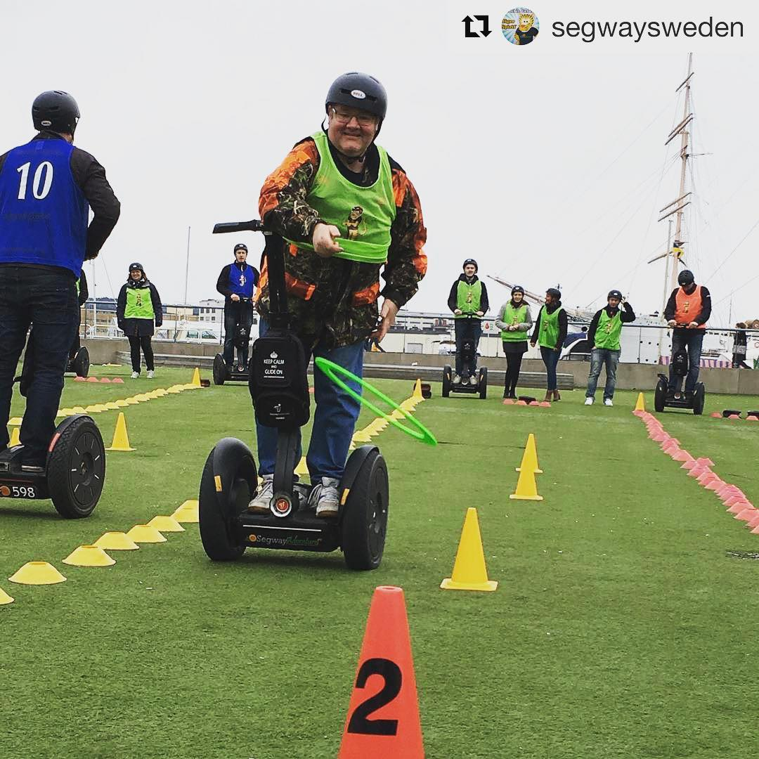 Fun and segway games in Sweden @segwaysweden ・・・ We just love our guests at our events.