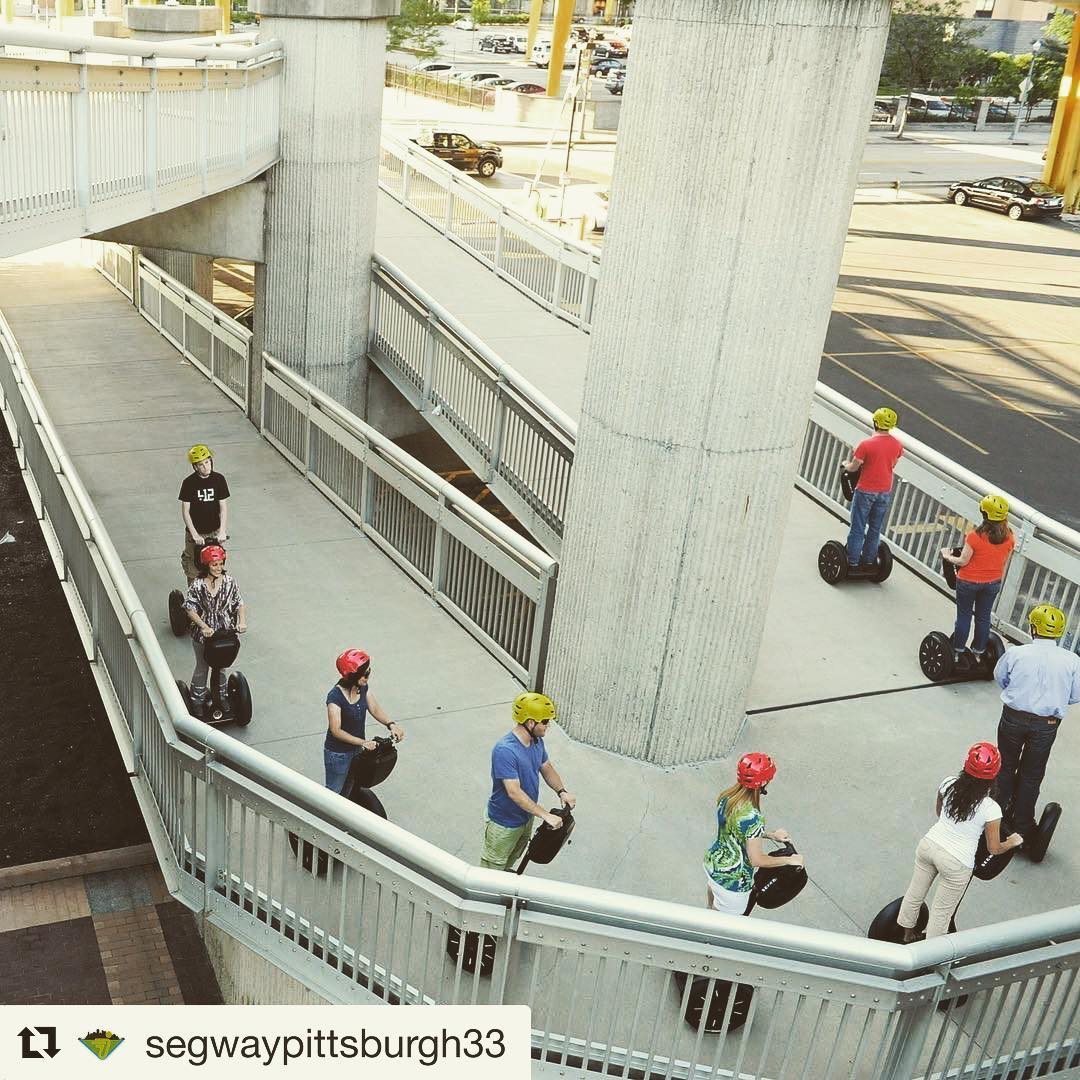 Segway tour of the day  @segwaypittsburgh33 ・・・ Going up the ramps on the Ft.Duquesne bridge