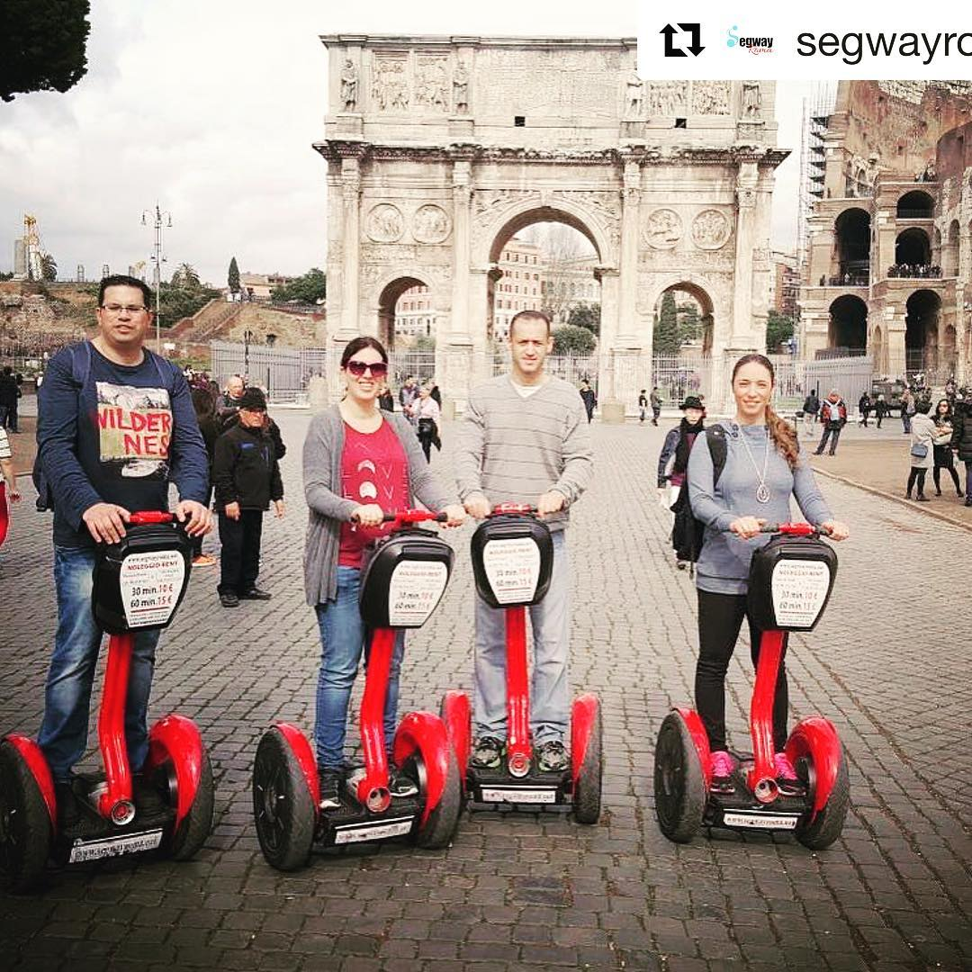 Rome the perfect destination for touring by Segway  @segwayroma ・・・ in ️