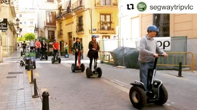Today's @segwayworldwide glide of the day in Valencia Spain . . @segwaytripvlc ・・・ ¡¡Que empiece el fin de semana!!