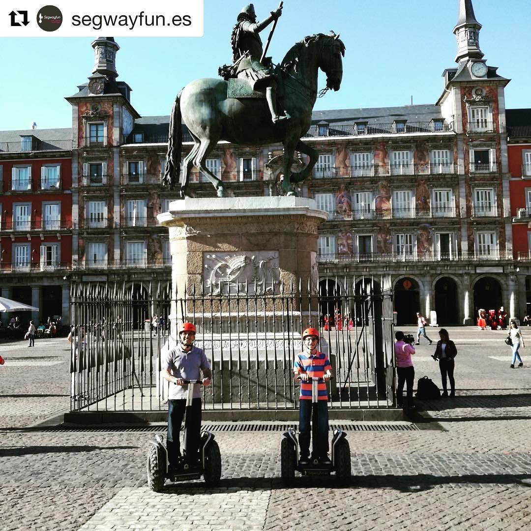 @segwayfun.es ・・・ Preciosa, la Plaza Mayor de Madrid. segwayextreme