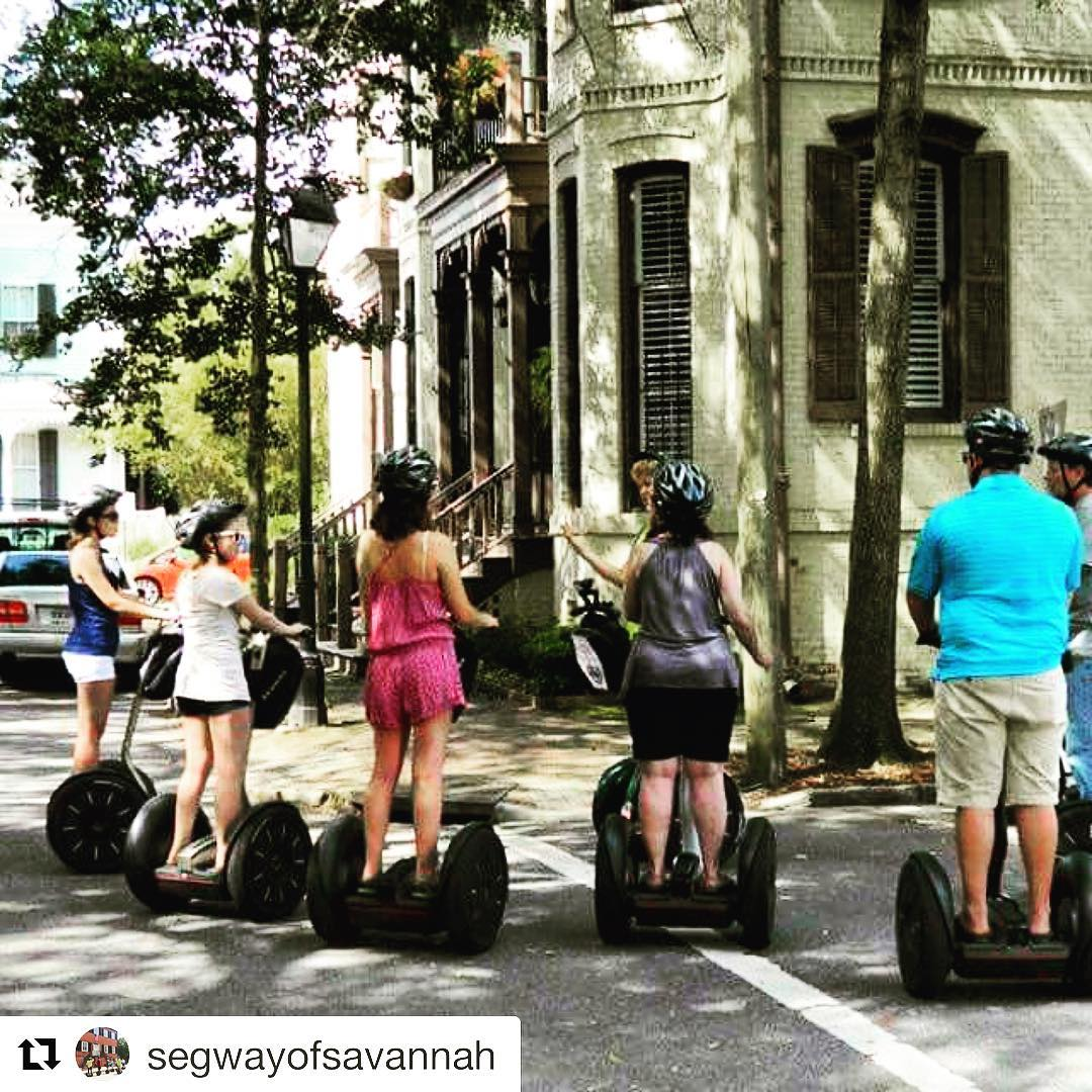 Savannah Georgia is the segway tour destination of the day. . @segwayofsavannah ・・・ A beautiful day in Savannah, how about a Segway tour?