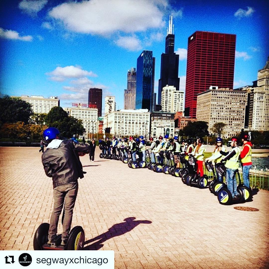 Segway tour of the day:  Chicago Illinois  @segwayxchicago ・・・