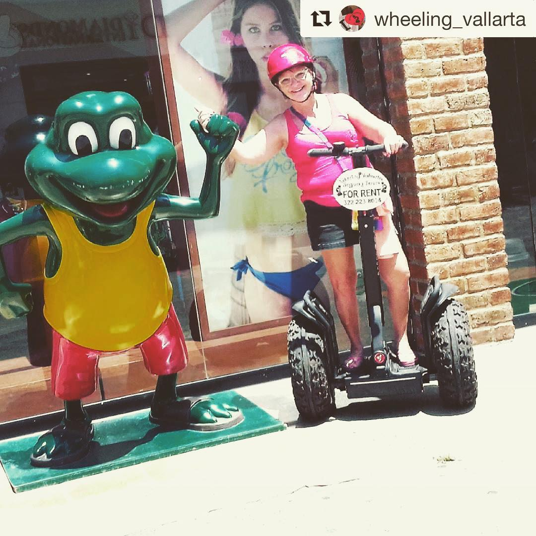 Segway's and frogs together again . @wheeling_vallarta ・・・ Hanging with the frog