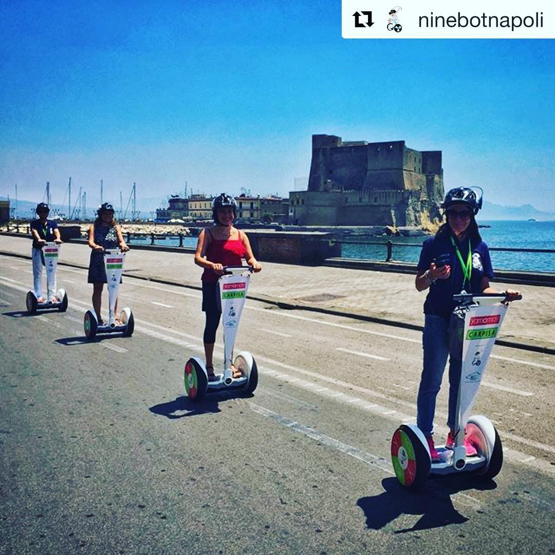 Checking out the coast in Naples Italy  @segwayworldwide segway tour of the day . . @ninebotnapoli ・・・ Hey guys! Join su for super Tours!!!