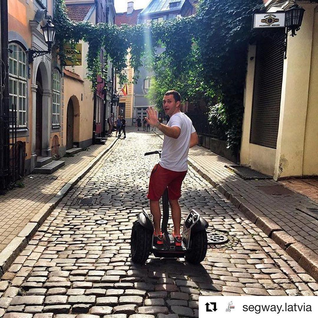 @segway.latvia ・・・ Yay! Season is open! We invite you to an unforgettable journey through the Riga city on #segway🏙 Get an incredible emotions and feel the freedom! We wait you at the Old Riga, Tornu street 4. We are taking reservations by What'sUp, Viber ️+37129772247