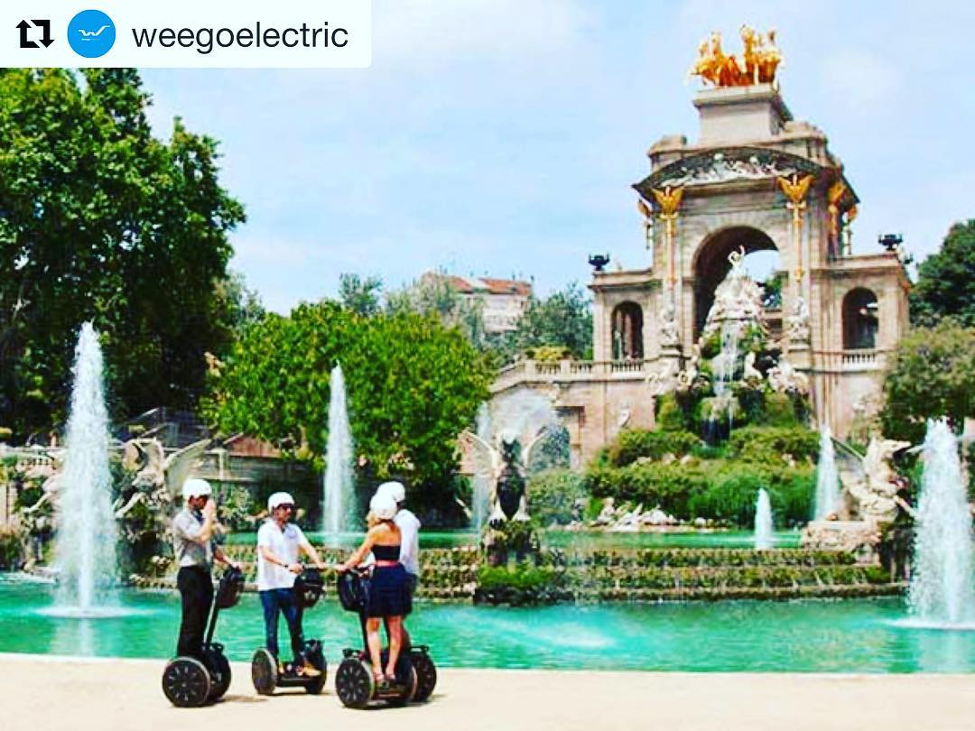 Segway tour destination of the day Barcelona Spain  . . @weegoelectric (@get_repost) ・・・ Discover Barcelona in a different way. Have fun 😎