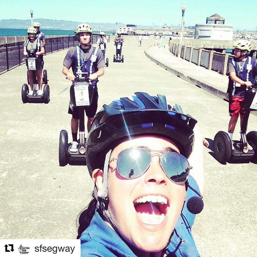 Segway selfie of the day in San francico with @sfsegway . . @sfsegway ・・・ We love taking guests on segway tours!!Segway on Muni pier with amazing views of Alcatraz and the the Golden Gate Bridge. The sun is out and it's a beautiful day in @fishermanswharf  Join us for a Segway tour of the waterfront, little Italy and Fisherman's Wharf. For you folks with a tight schedule we have our new 1.5 hour mini tour this year. .. . . #