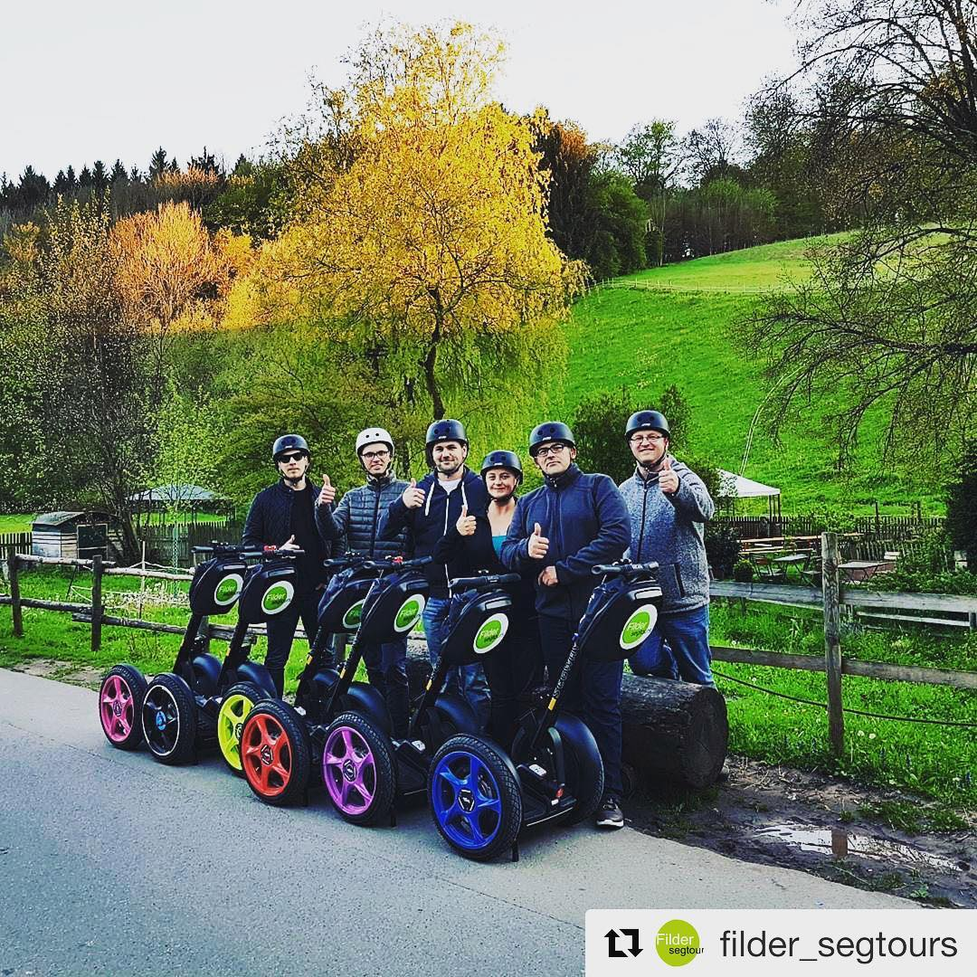 Colorful segway wheels make for a colorful segway experience . @filder_segtours ・・・ Eselsmühle auf der BG-Tour #Leinfelden-Echterdingen #FIlder-Segtours
