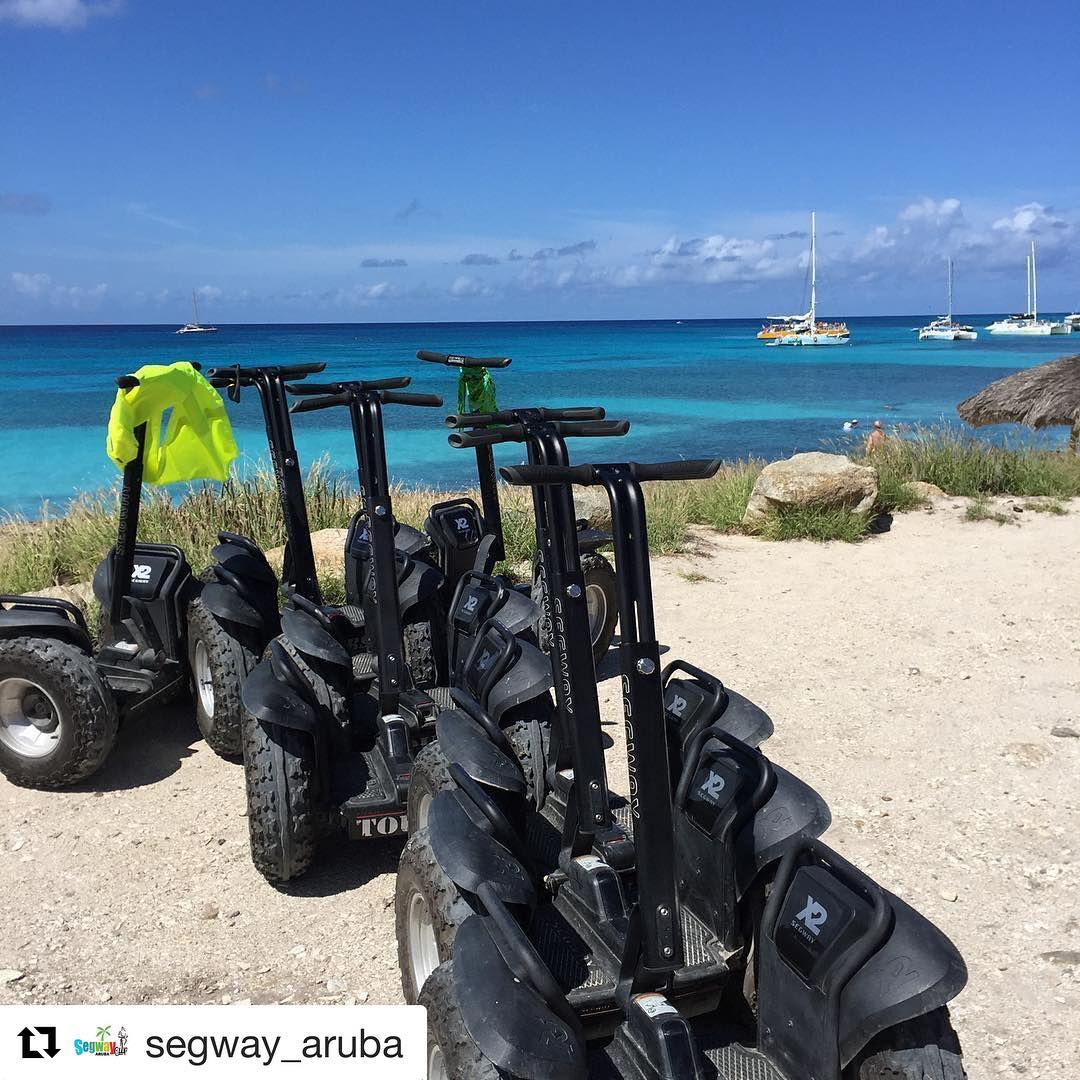 @segwayworldwide beach tour of the day in Aruba . . @segway_aruba (@get_repost) ・・・