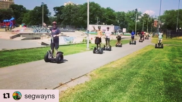Segway gang spotted in Halifax Nova Scotia Canada 🇨🇦 with a low speed drive by seg smile and seg wave! Segway tour of the day . . . @segwayns ・・・ Great day showing these young rugby players visiting from the U.K. our city!