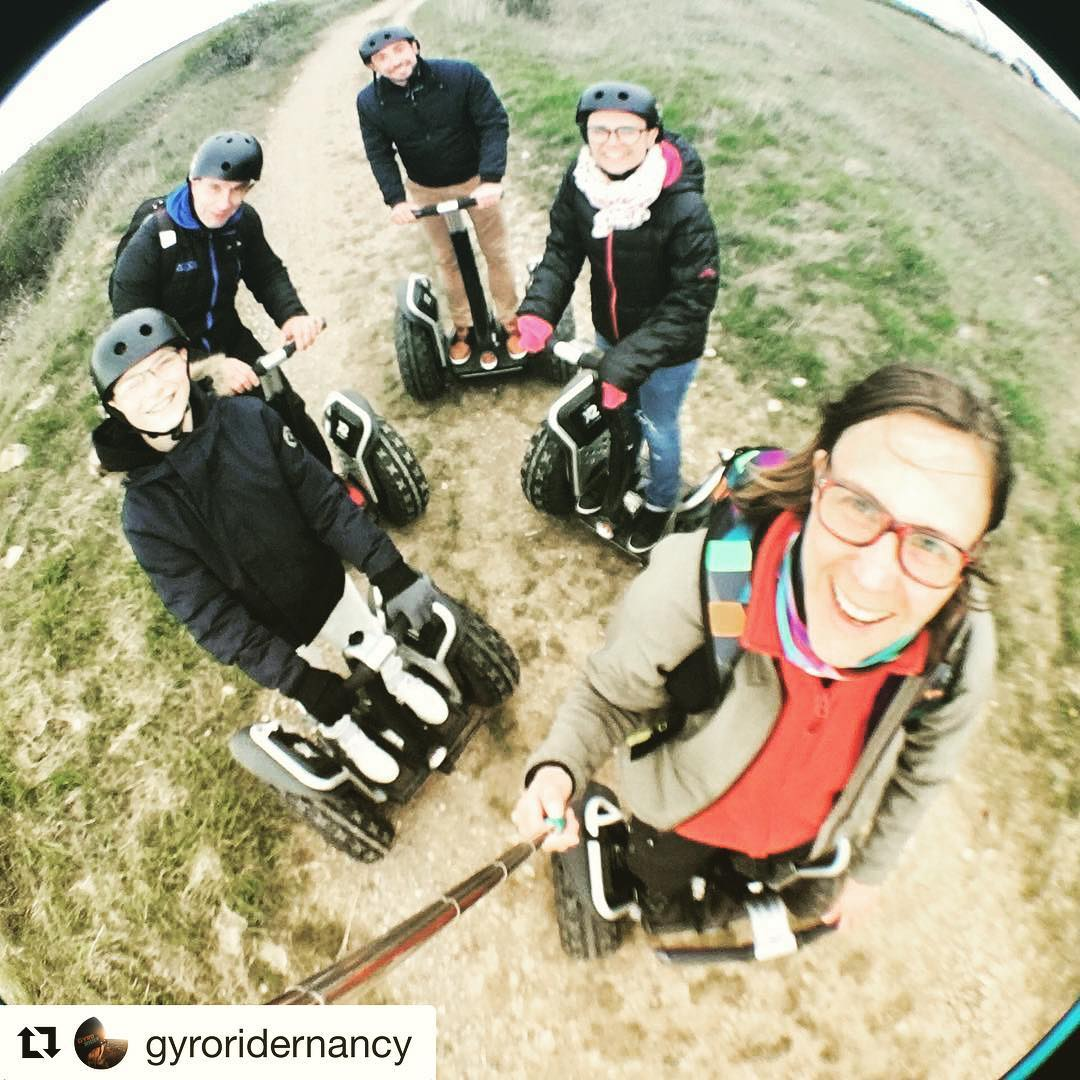 Segway selfie Friday  with the folks @gyroridernancy in France  . . @gyroridernancy (@get_repost) ・・・ Je ne partirai plus jamais en balade sans ma perche et mon fisheye !!!