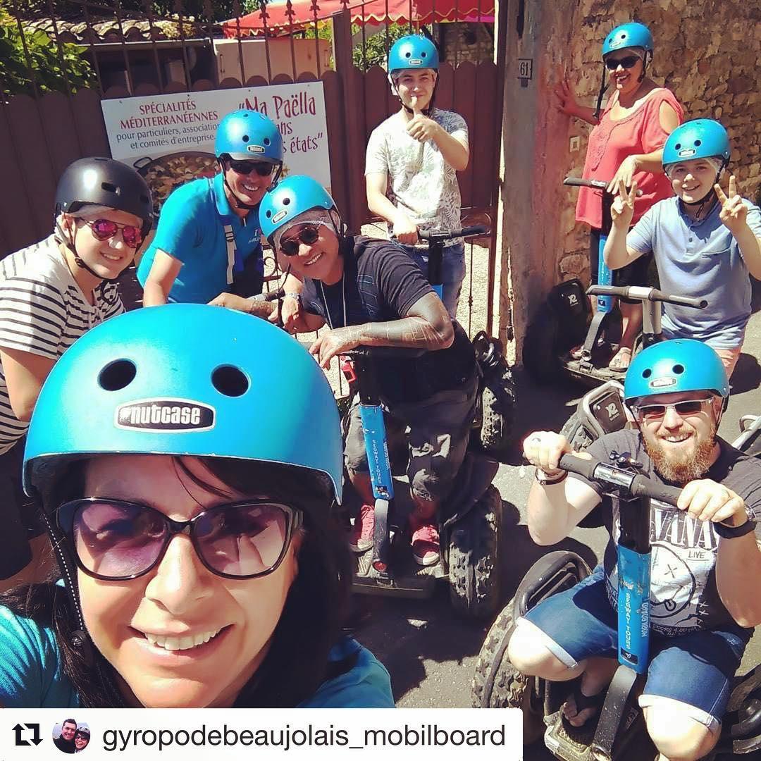 Segway selfie of the day from Beaujolais region of France  . . . @gyropodebeaujolais_mobilboard ・・・ après la découverte de en avec la tribu