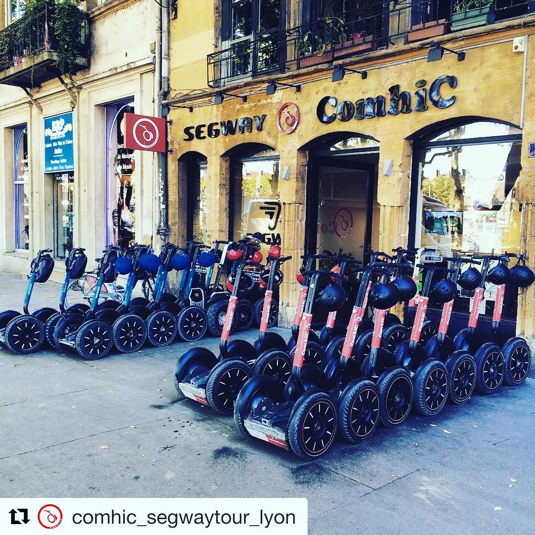 Segway parking precision by @comhic_segwaytour_lyon in Lyon France  is one of 740 segway companies featured on  @segwayworldwide . . . @comhic_segwaytour_lyon ・・・ Prêt pour la ballade ! 🏻️