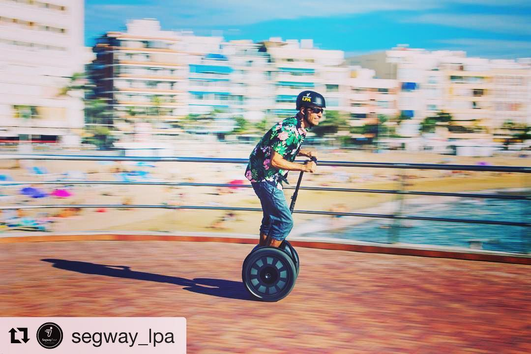 Beachside segway tour of the day in Gran Canaria . . @segway_lpa ・・・ La mejor ciudad para tú segway experience. The best city for your segwaytours.
