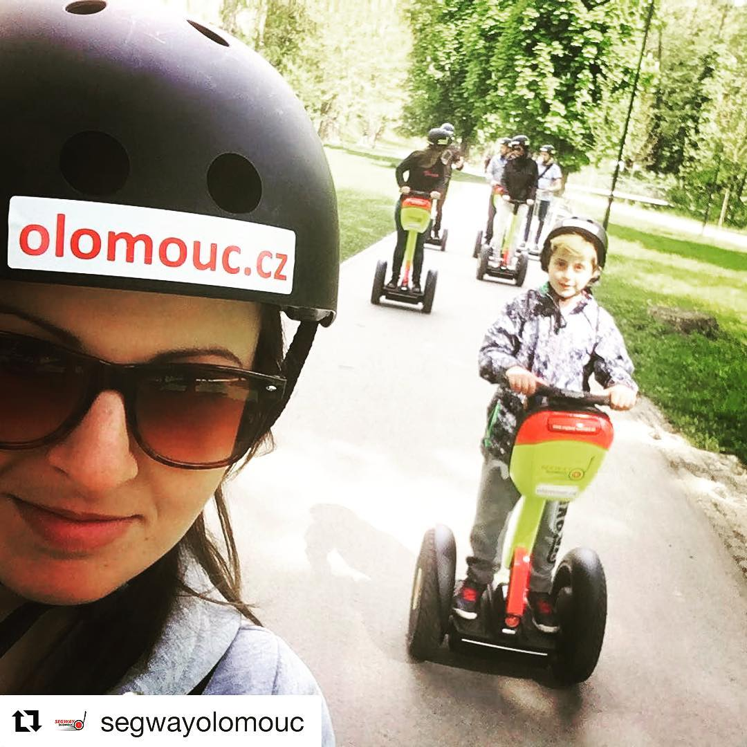 Segway selfie of the day in Olomouc Czech Republic 🇨🇿 featured on @segwayworldwide . . @segwayolomouc (@get_repost) ・・・ Perfect weather for a segway tour! Come and join us 😎🌤 🤗 #czechrepublic🇨🇿