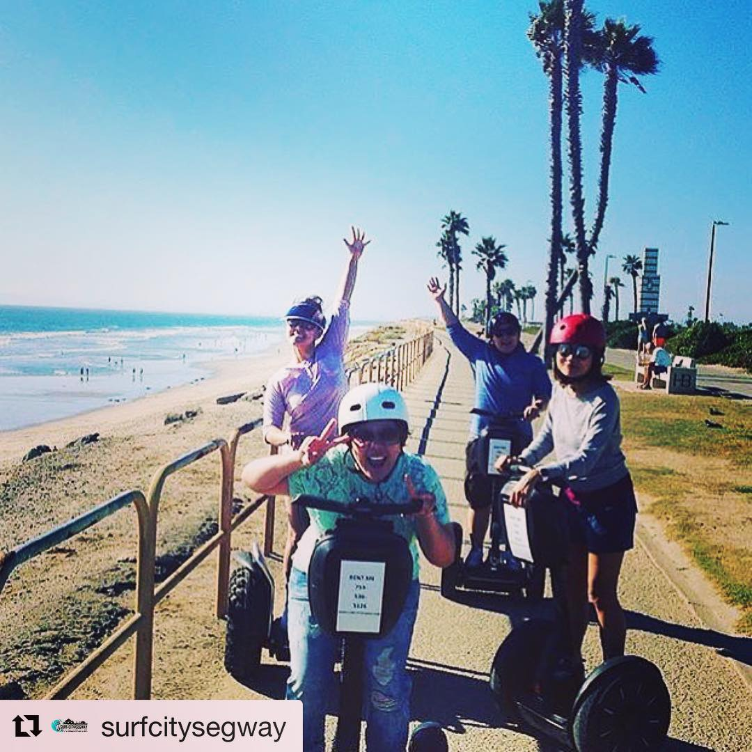 Beachside segway tour of the day from the folks at @segwayworldwide is in Huntington Beach California - surf city USA . . @surfcitysegway (@get_repost) ・・・ Another successful rental & an amazing picture to capture the moment!