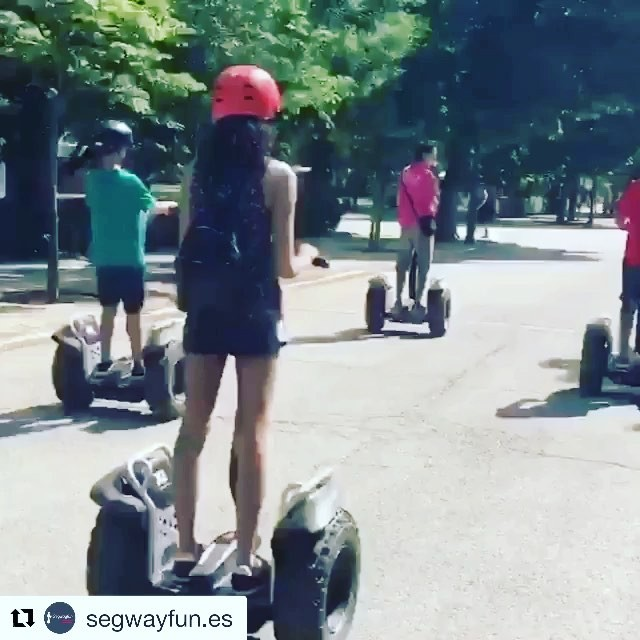 Looks like the segway riders in Madrid Spain  are have all the fun today @segwayfun.es ・・・ Lo importante es divertirse!