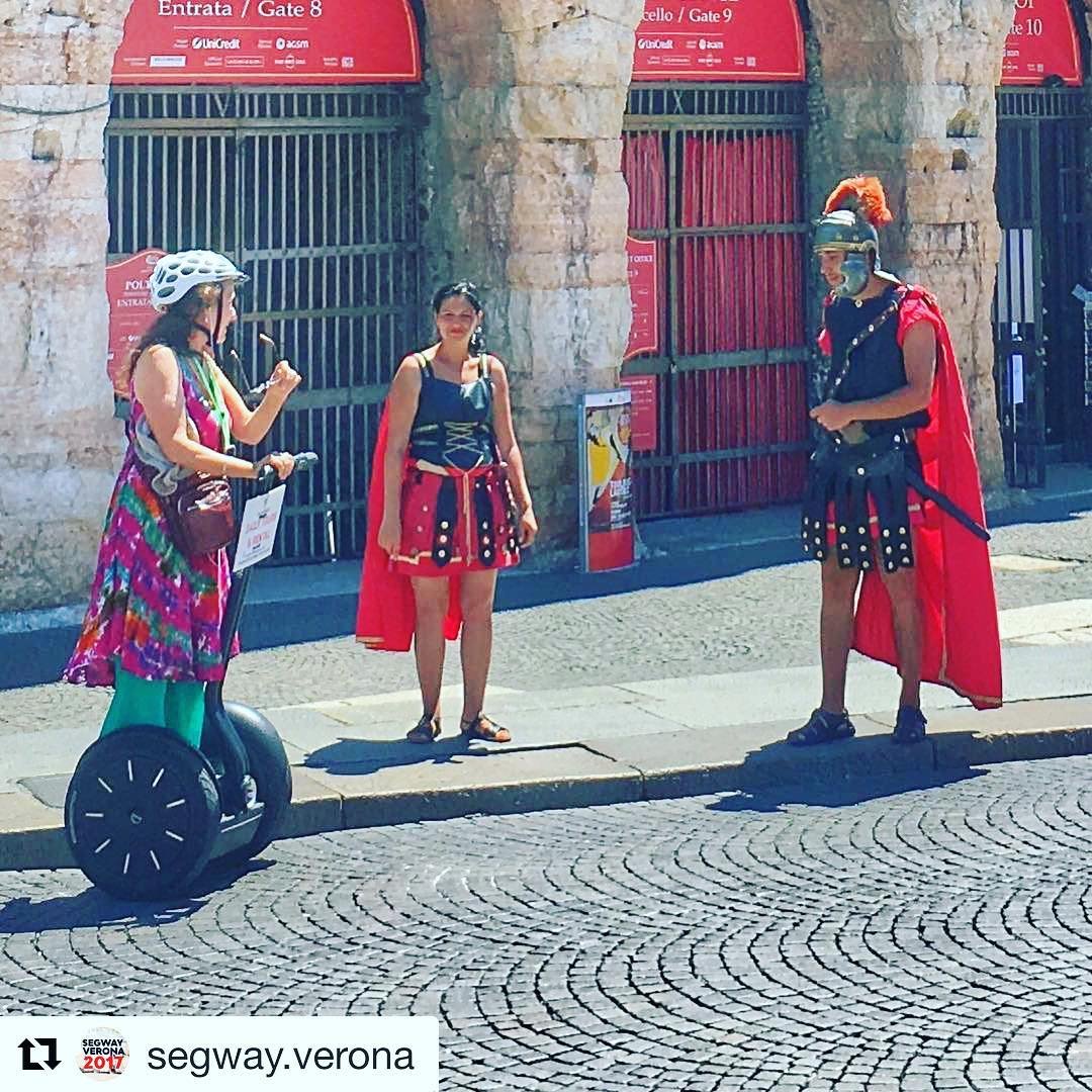 Today's seen while on a segway tour feature - gladiators at Arena Diverona in Verona Italy  . . . . @segway.verona ・・・