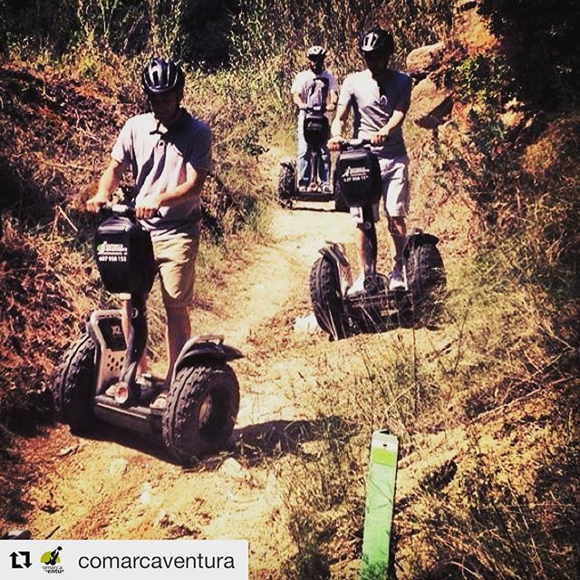 These guys @comarcaventura know how to take the x2 segway off-road . Let's go seg in the dirt! . . . @comarcaventura ・・・ Vine a gaudir del en el parc de Can Jalpí