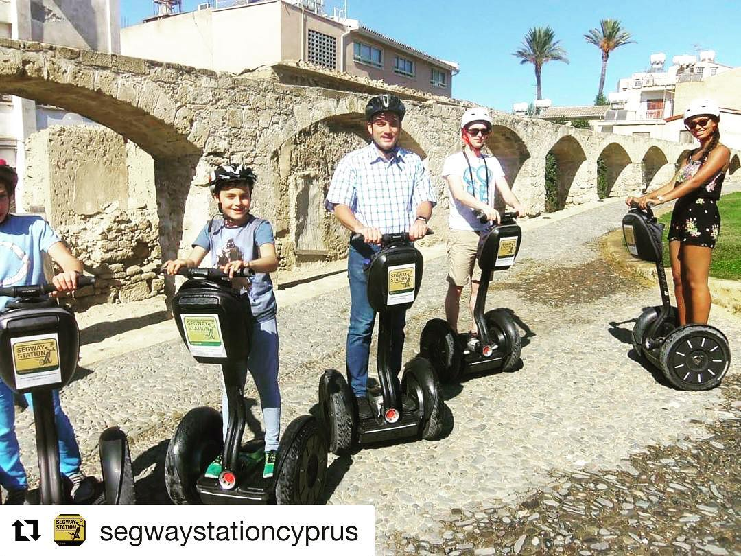 Dreaming of an island vacation? Segway on an island - the tour of the day is on beautiful Cyprus with Segway Station. . . @segwaystationcyprus ・・・ by the old Roman Aqueduct. #cyprus🇨🇾