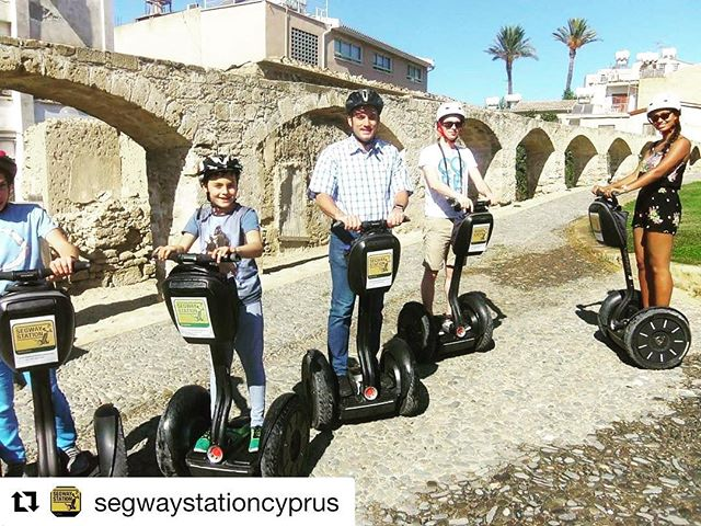 Dreaming of an island vacation? Segway on an island - the tour of the day is on beautiful Cyprus with Segway Station. . . @segwaystationcyprus ・・・ by the old Roman Aqueduct.