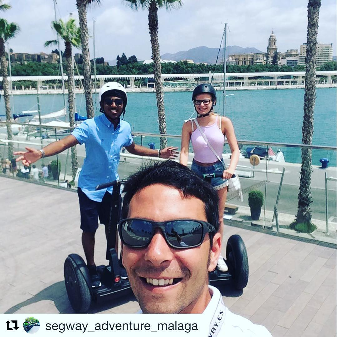 The segway selfie of the day is in Malaga Spain  Get out on a segway tour and send us your best selfies! . @segway_adventure_malaga ・・・