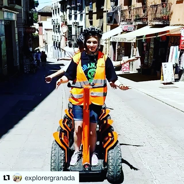 Segway boomarang of the day. Looks like the guests of explorer Granada are enjoying the segway tour . . @explorergranada ・・・ Segway tour granada la manera mas divertida de conocer granada