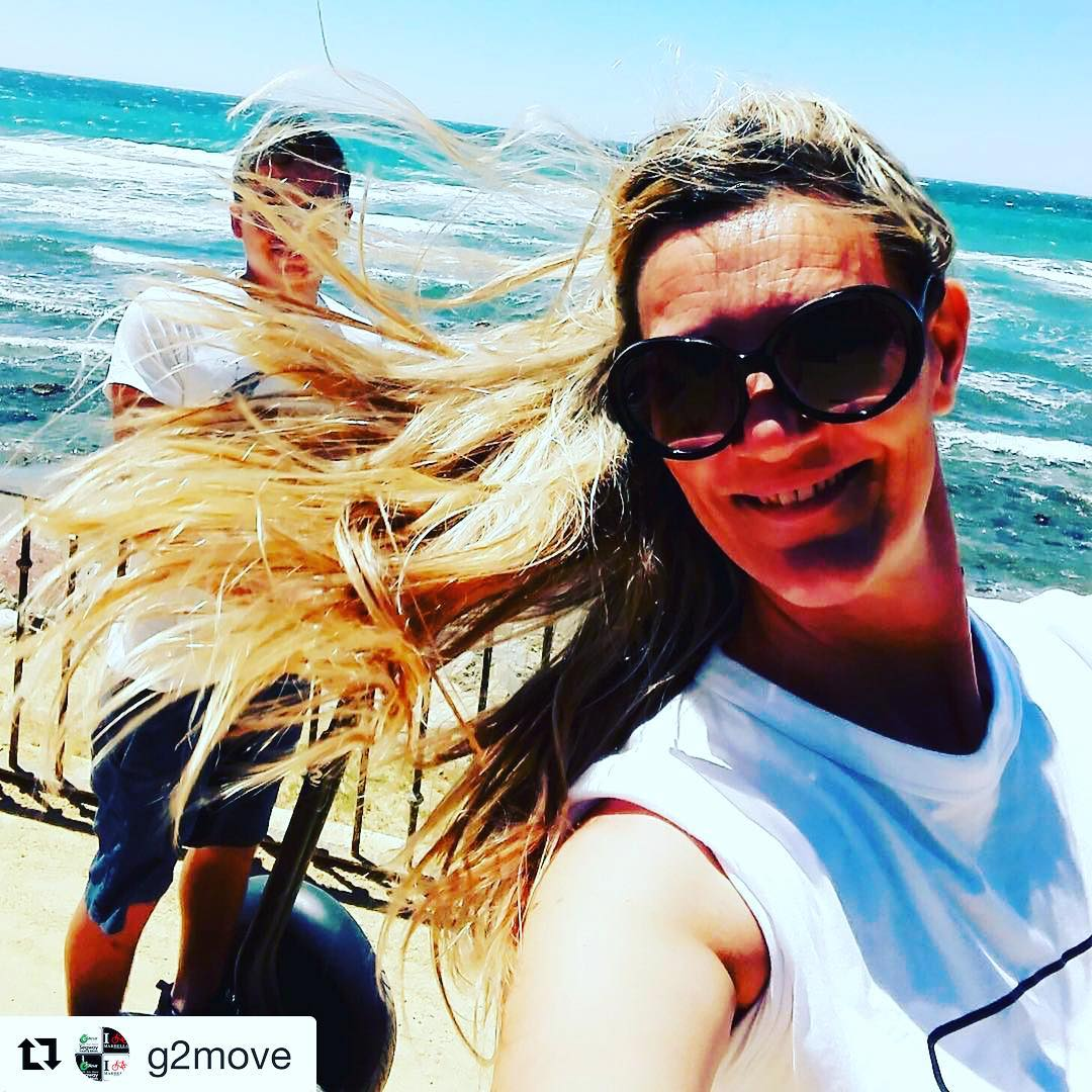 Segway selfie of the day in windy Marbella Spain  Get out on a segway and get the wind in your hair . . . @g2move ・・・ Feel the wind in the hair with