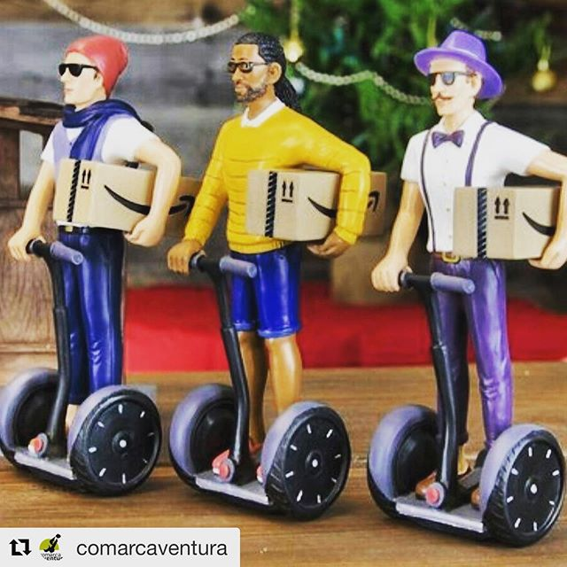 New quick delivery by segway for Amazon? Trucks, drones and now delivery by segway ! . . @comarcaventura ・・・ S'apropen les festes de i l'hora de començar a preparar la carta dels reis, tu ja saps que demanar?