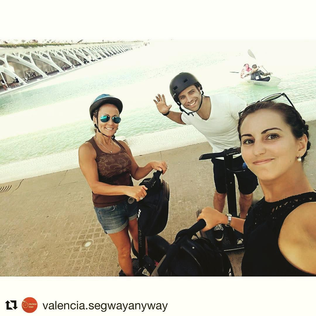 Segway selfie of the day in Valencia Spain  keep smiling and keep gliding . . . @valencia.segwayanyway ・・・ Smiles on the faces of people, the best confirmation of the professional work of our company, because we smile and rejoice together🏻️
