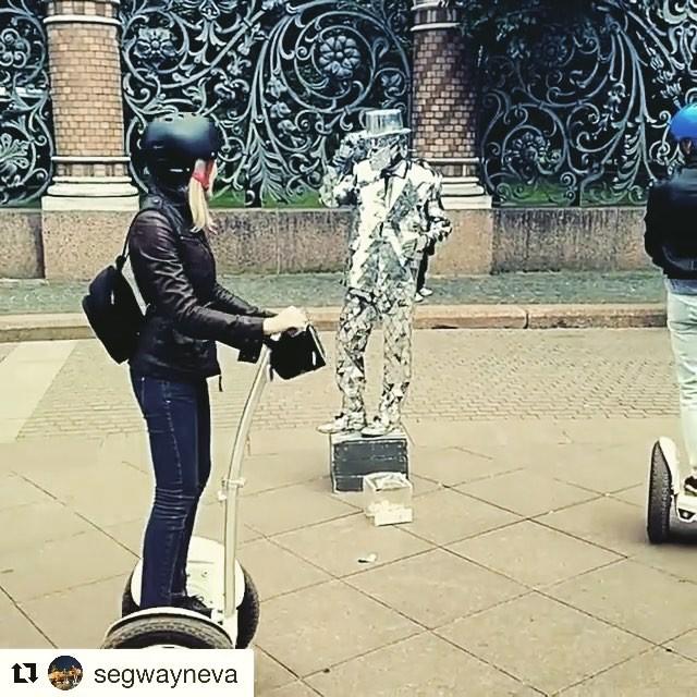 Segway tour video of the day from St Petersburg Russia  with the mirror man . .  @segwayneva ・・・ Вот такие персонажи есть на улицах Санкт-Петербурга