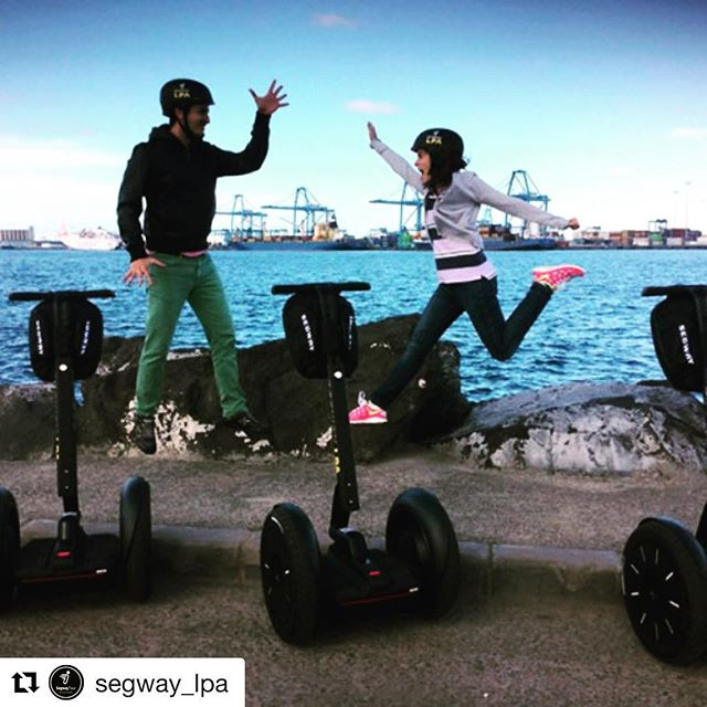 Segway tours make you jump for joy or just jump for no particular reason at all !! Seglyfe in Gran Canaria! Just jump on the next tour departure. . . @segway_lpa