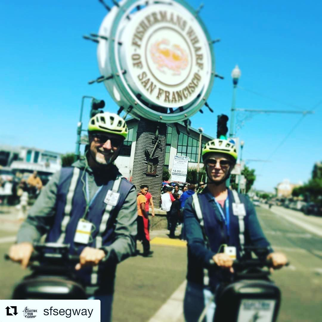San Francisco Electric Tour Company and Fishermans Wharf and the SF waterfront are today's segway tour of the day! . .  @sfsegway ・・・ Good morning  The sun is out and it's a beautiful day in @fishermanswharf . Join us for a Segway tour of the waterfront, little Italy and Fisherman's Wharf. For you folks with a tight schedule we have our new 1.5 hour mini tour this year. .. . .