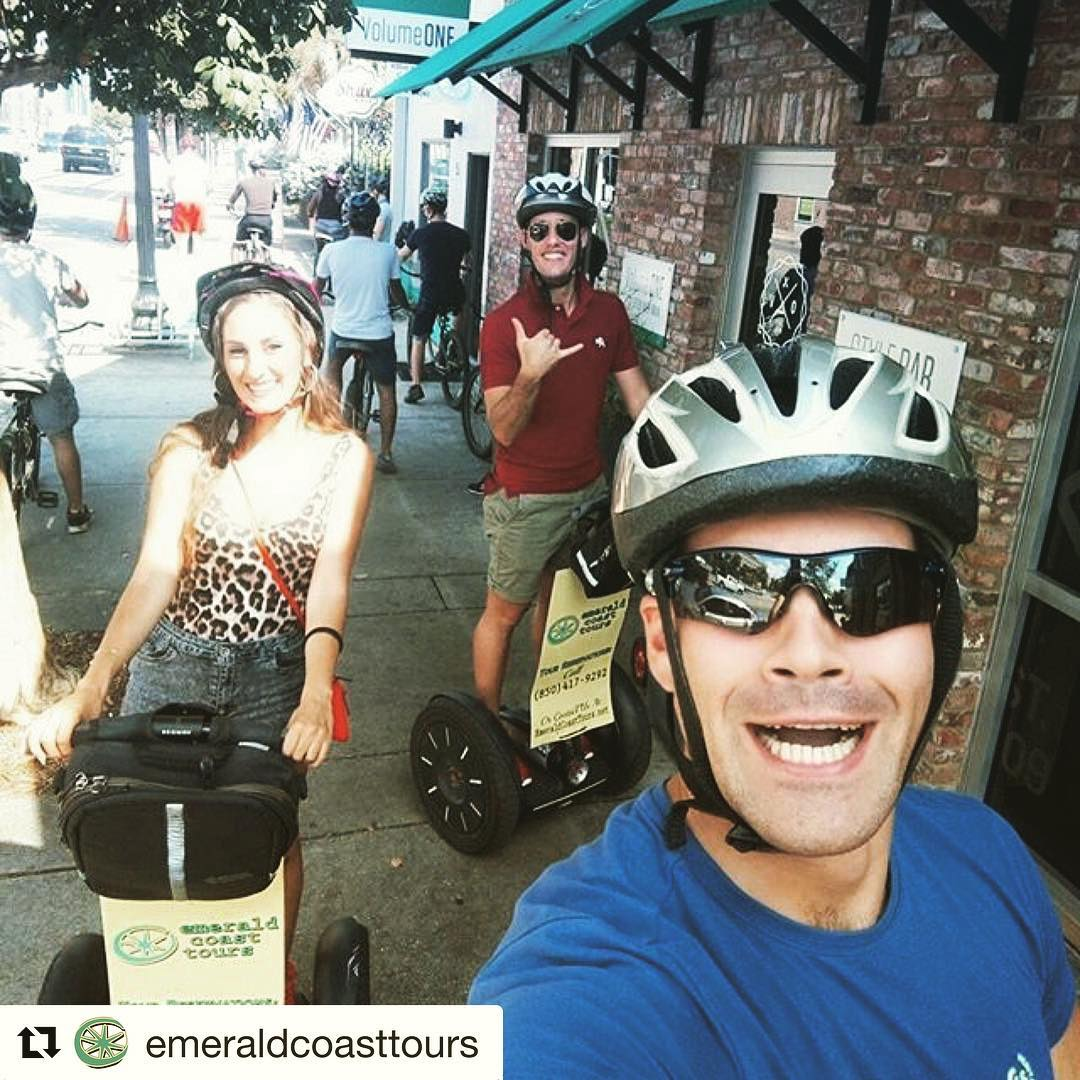 Segway selfie of the day from Pensacola Beach  Florida USA  smiling and gliding . .. @emeraldcoasttours ・・・ @gata_carioca ・・・ Historic Tours by segway of Downtown Pensacola or Pensacola beach