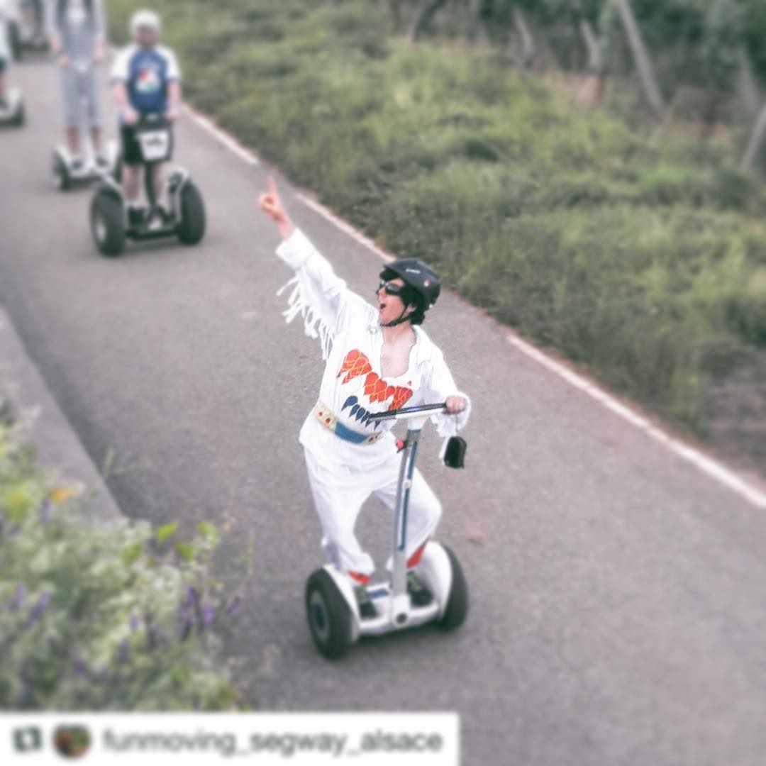 The award for having too much fun on a segway tour goes to this guy! I think they are serving wine on this segway tour in Alsace France  Dance moves! . . . @funmoving_segway_alsace