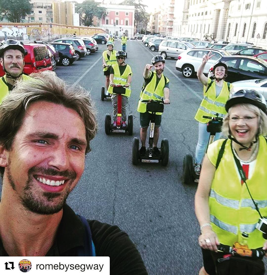 Segway selfie of the day from Rome Italy  get out and share your segway smile ! . . @romebysegway ・・・ It's always a good time for a 😎