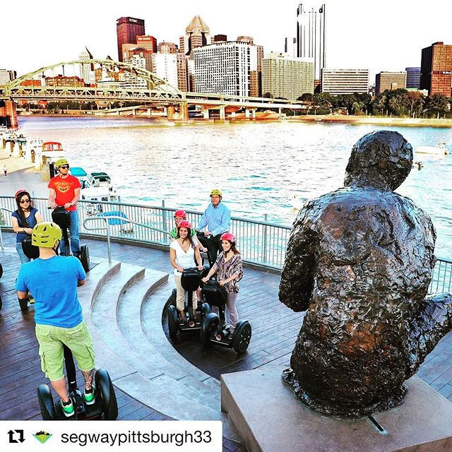 Taking in the amazing river views while out and about on a segway tour in Pittsburg PA USA  Segway tour of the day! . . . @segwaypittsburgh33 ・・・ @segwaypittsburgh33 (@get_repost) ・・・ Visit the Mr.Rogers Monument on our North Shore tour.   Visit the Mr.Rogers Monument on our North Shore tour.