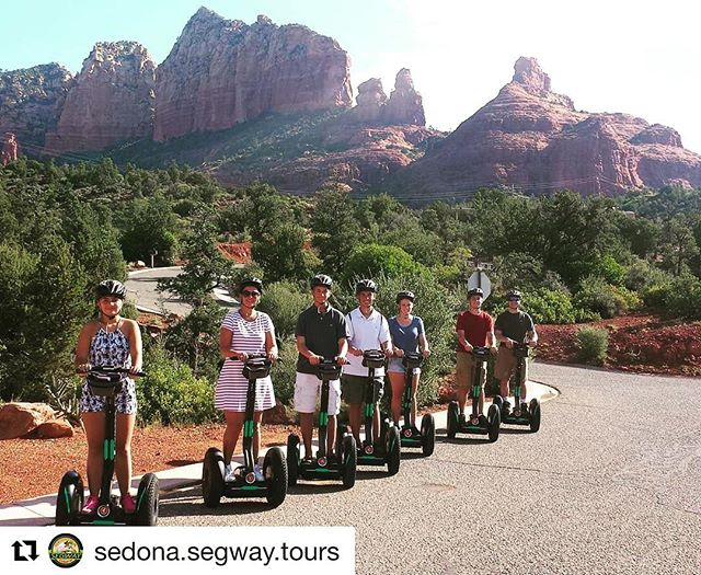 Beautiful scenery of the day is compliments of Segway of Sedona Arizona USA  . Segway in the beautiful American west . . @sedona.segway.tours