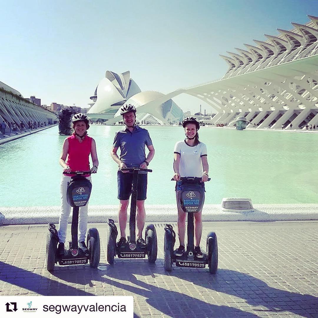 Segway architecture tour of the day in beautiful Valencia Spain  putbthis tour on your bucket list . . @segwayvalencia ・・・ Terminamos el fin de semana disfrutando del buen tiempo y la compañía de nuestros clientes. ¡Gracias a todos por confiar en @segwayvalencia !