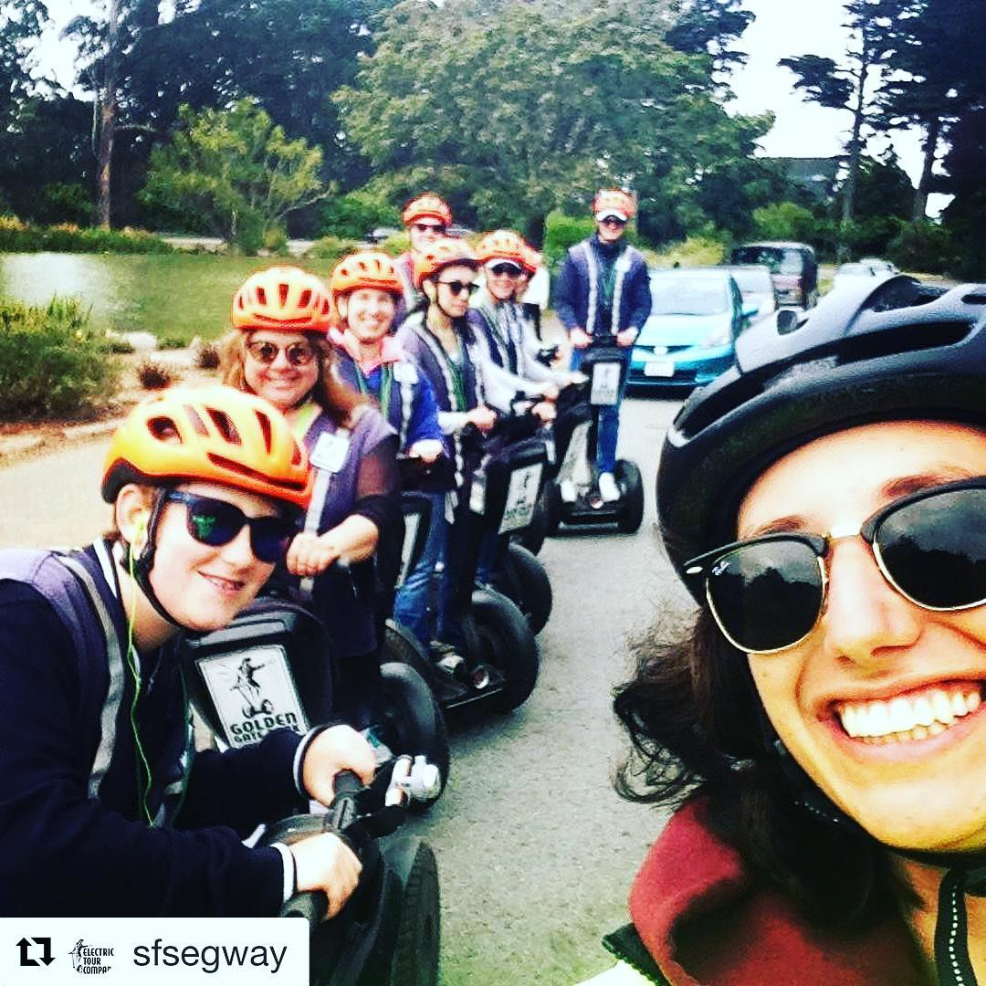 Segway selfie of the day is in Golden Gate park in San Francisco California USA  join the Electrictourcompany.com on your next segway tour in San Francisco. Segway sightseeing tour of the day! . . @sfsegway ・・・ Learn all about Golden Gate park with our fun and entertaining tour guides. Tours this summer include Summer of Love 50th anniversary tales. Explore the many hidden corners of the 1000 acre Park. Guests also enjoy great views of @deyoungmuseum and @calacademy they tour the park. Come glide through beautiful Golden Gate Park in San Francisco. Summer in San Francisco is a great time to visit. Get out and see the amazing park on a segway tour. It's always a perfect day for a segway tour. . .