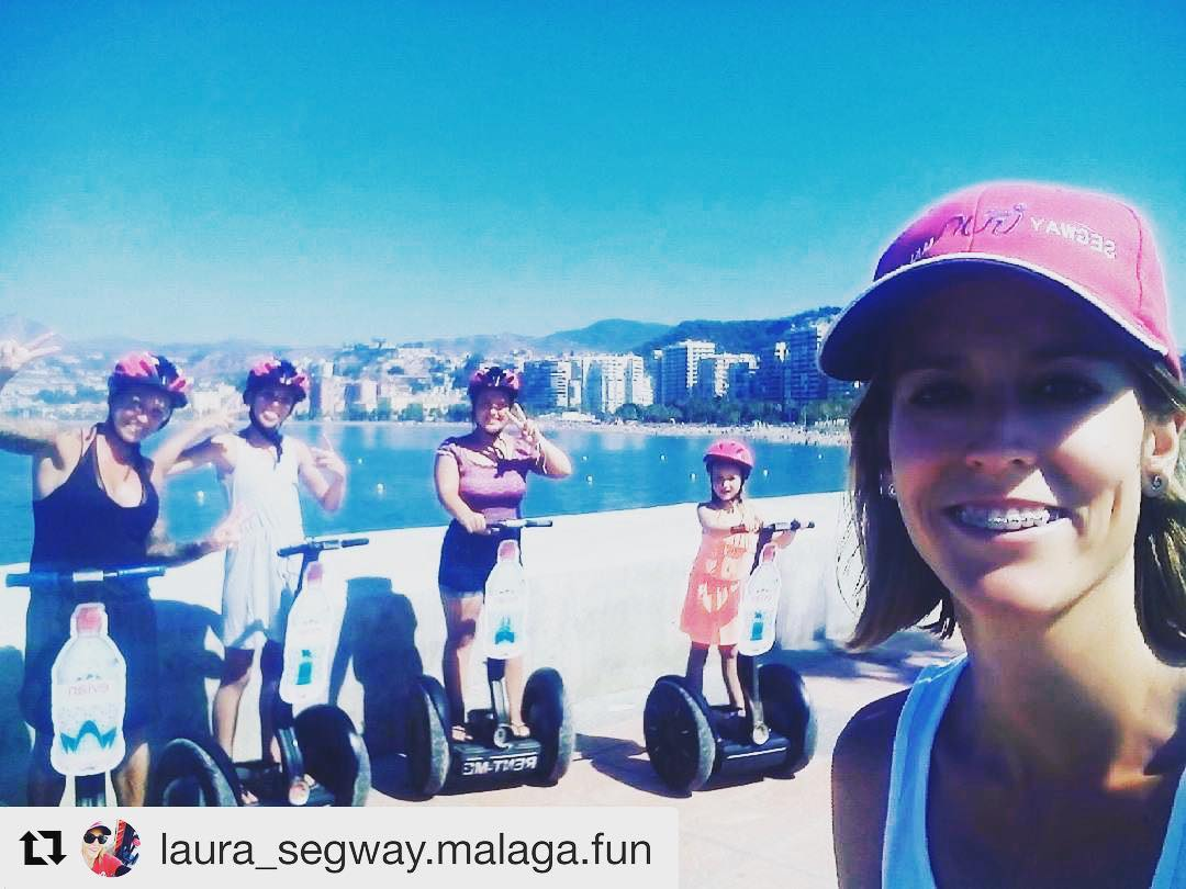 Segway selfie of the day is in Malaga Spain  get out and enjoy a segway tour this summer . . . @laura_segway.malaga.fun ・・・ www.segwaymalagafun.com EVIAN Tour Get your Bottle of Water! Consigue tu botella de agua fresquita!