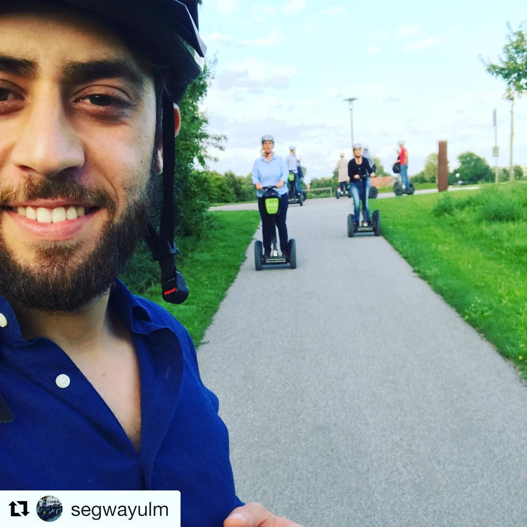 Segway selfie Saturday continues with this segway tour pic from Ulm Germany  . . @segwayulm ・・・