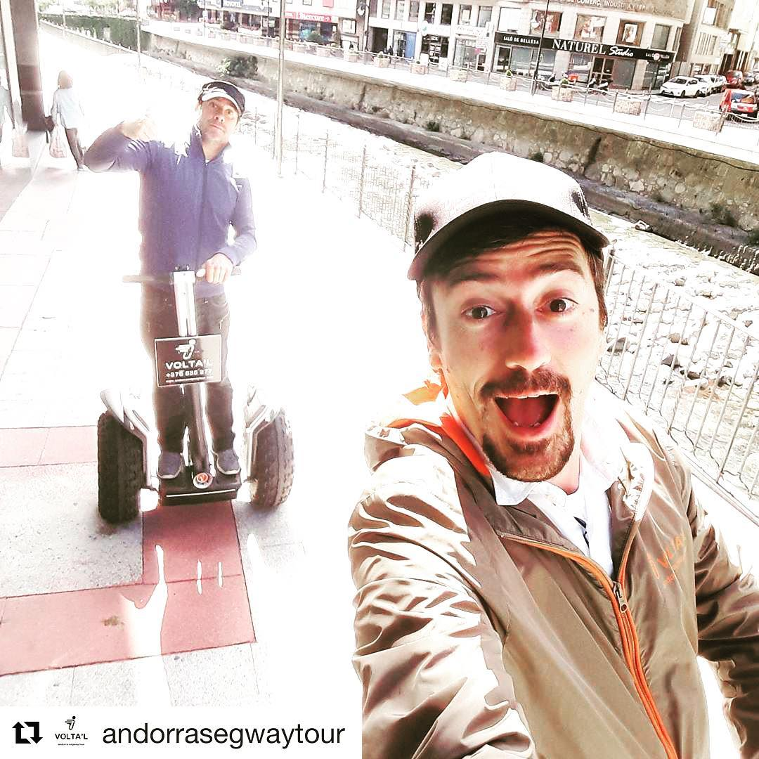 Segway selfie of the day is from Andorra 🇦🇩 go out and get your own segway selfie on one of the 700 segway tour companies worldwide. find and book the perfect segway tour at https://segway-tours-worldwide.com . . @andorrasegwaytour ・・・ ohhh....de ruta per la capital dels pirineus!...