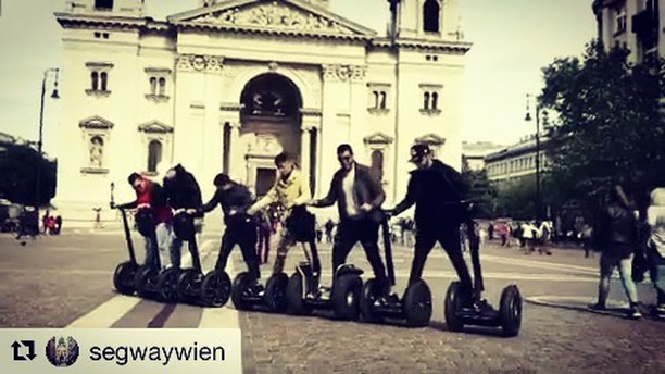 Kids be sure to try this segway trick ride at home. Segway team riding video compliments of the crew at segway Wein. . . @segwaywien ・・・ Have you known that our company is also located in Budapest?) And not only! If you were on tour in another city, ask for discount! And GREAT OFFER for guys who want to work with us: we give you an unique opportunity to work and travel with us🏻️️️
